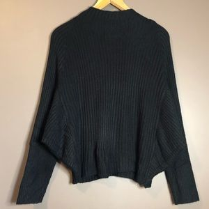 Eloquii black batwing knit sweater